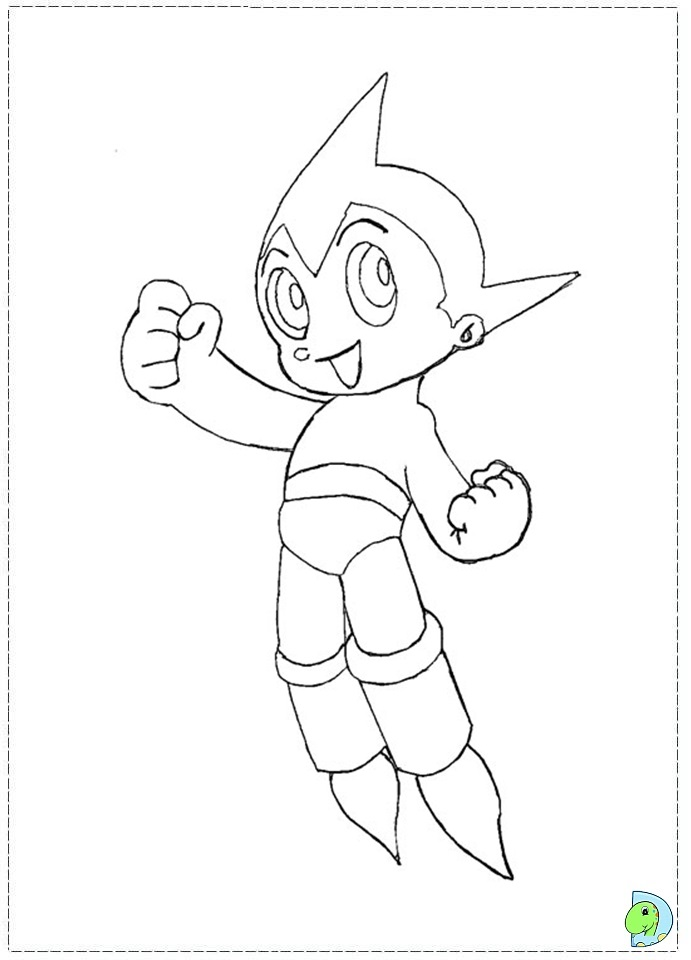 Astro Boy Coloring Page Dinokids Org