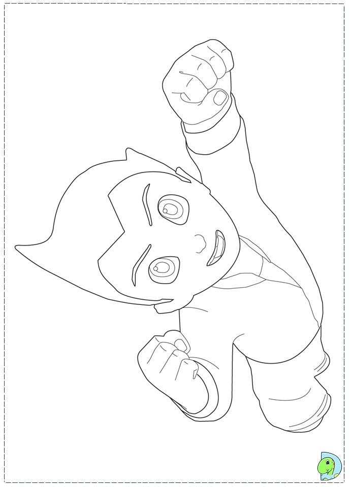 Astro Boy Coloring Page DinoKidsorg