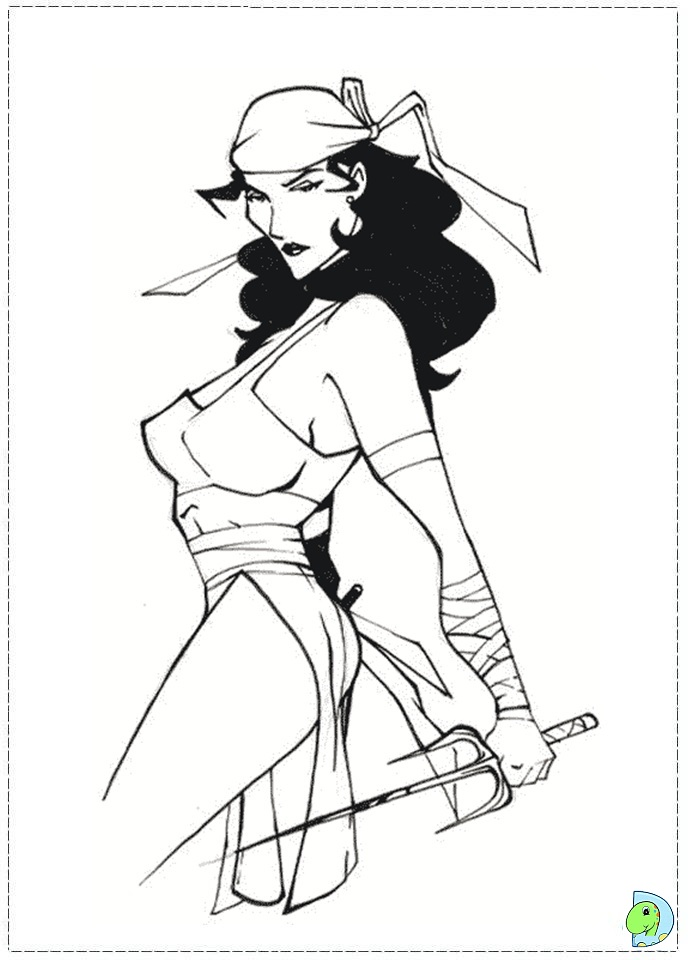 Elektra Coloring page- DinoKids.org