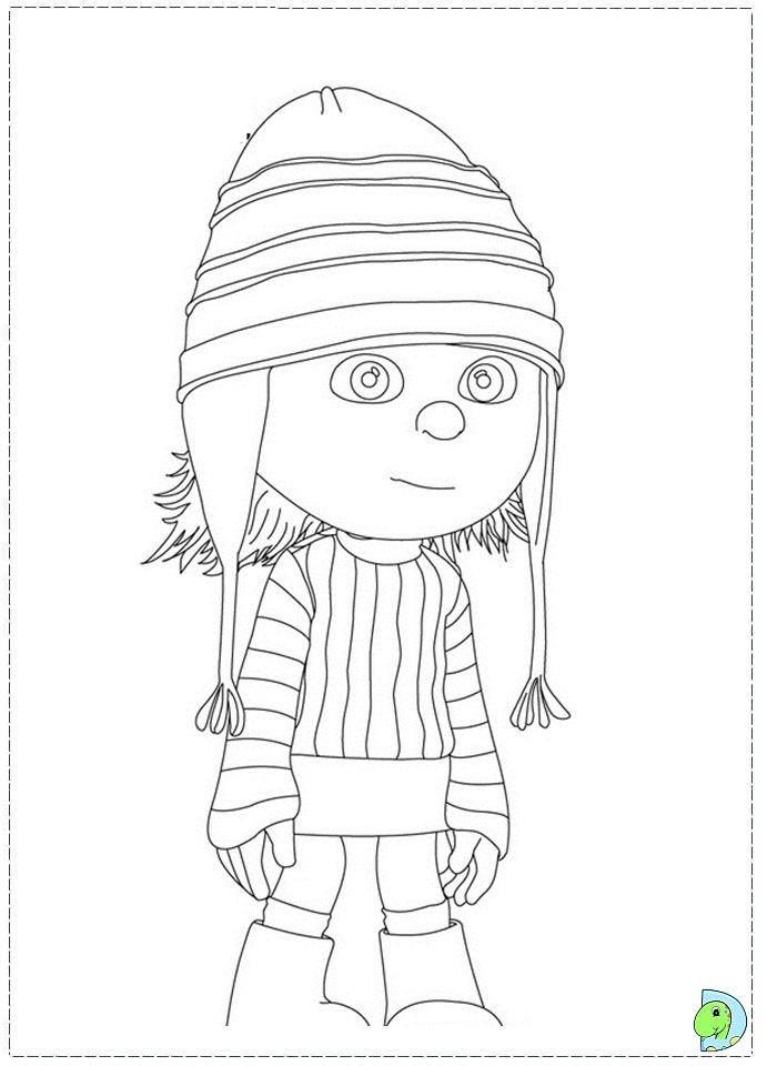 despicable me characters coloring pages sketch coloring page