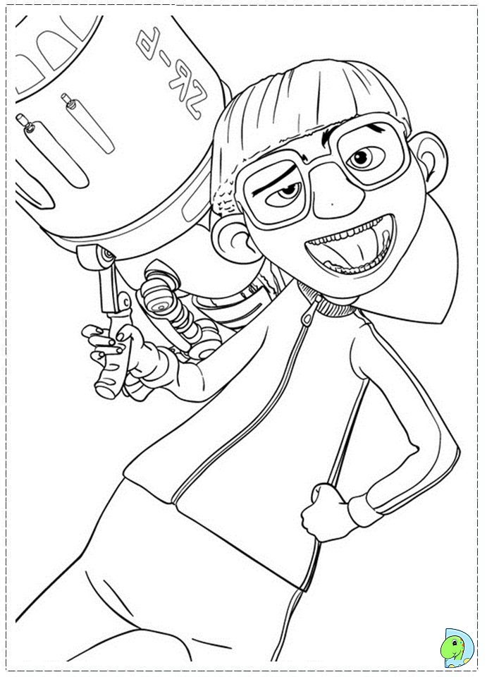 Despicable Me Coloring Page DinoKidsorg