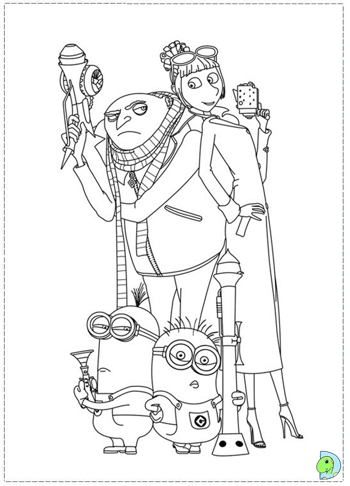 despicable me two coloring pages - photo#5