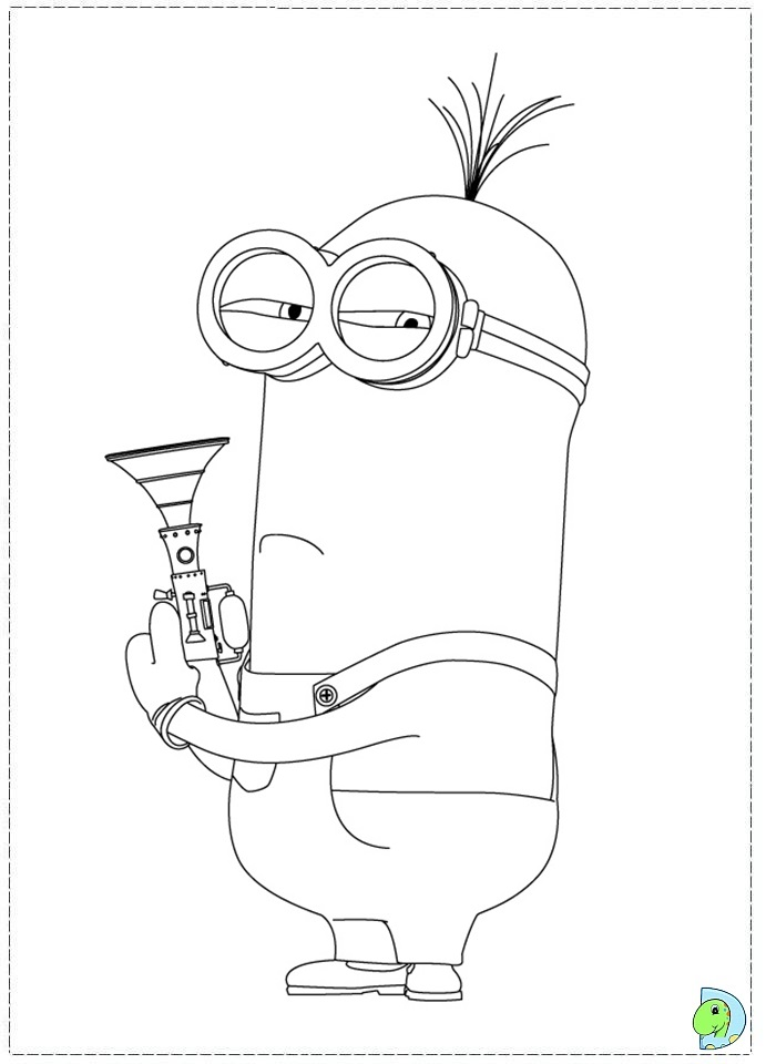 Lucy despicable me 2 coloring pages the for Despicable me 2 coloring pages