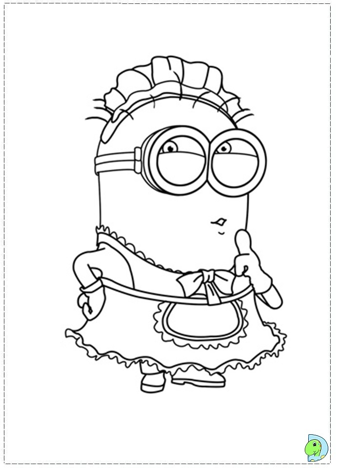 despicable me two coloring pages - photo#15