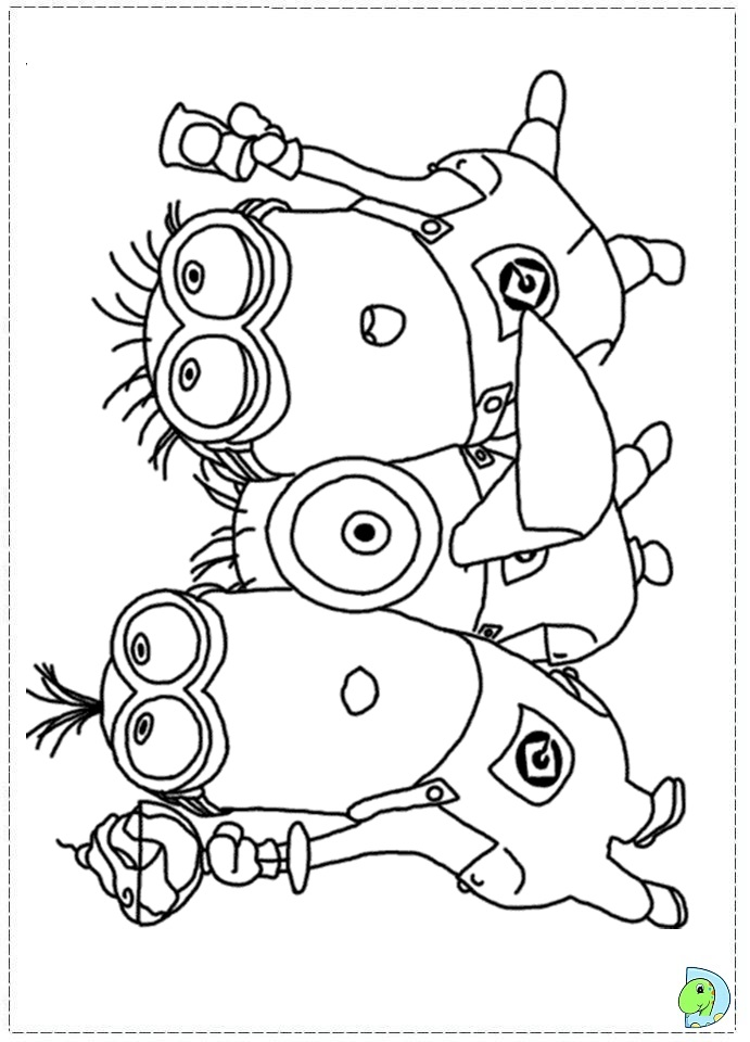 despicable me coloring pages to print - despicable me 2 coloring page