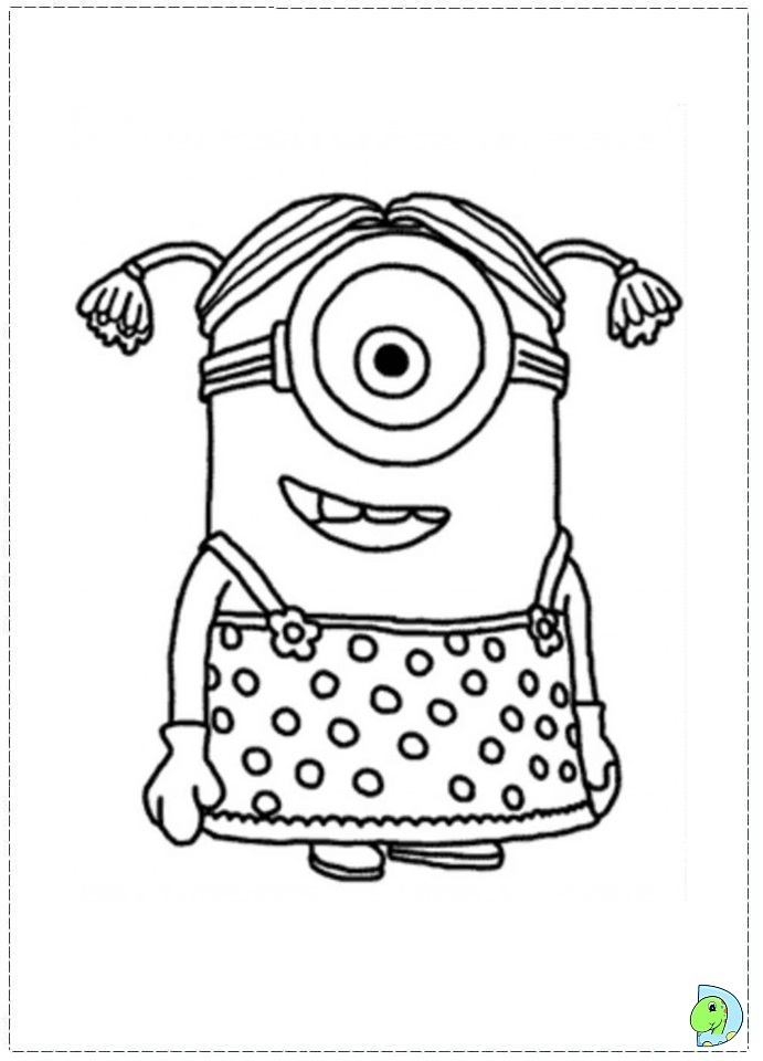 despicable me two coloring pages - photo#21