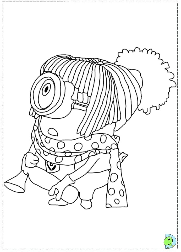 Free coloring pages of despicable me characters for Despicable me 2 coloring pages