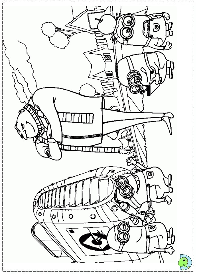 despicable me two coloring pages - photo#20