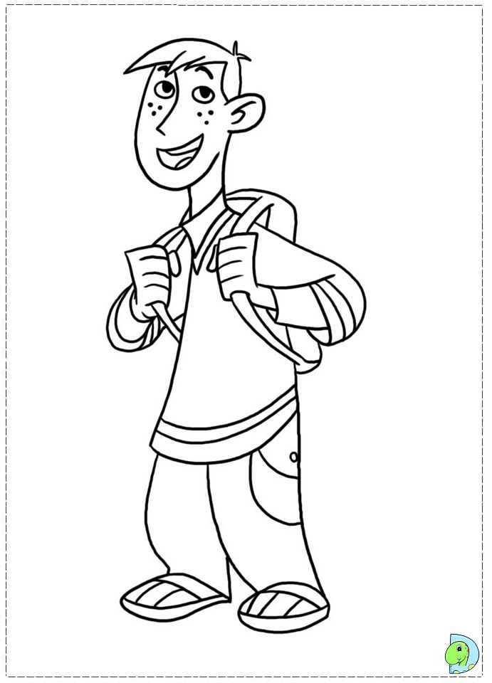 kim possible coloring pages - photo#12