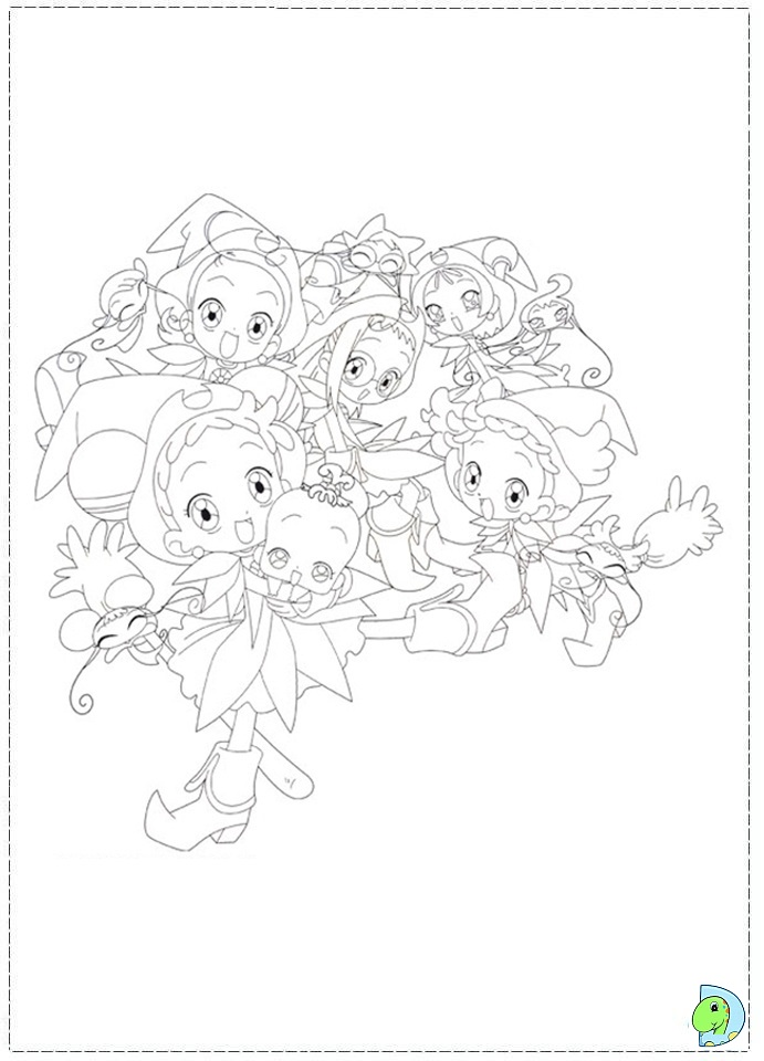 Magical Doremi Coloring Page Dinokids Org