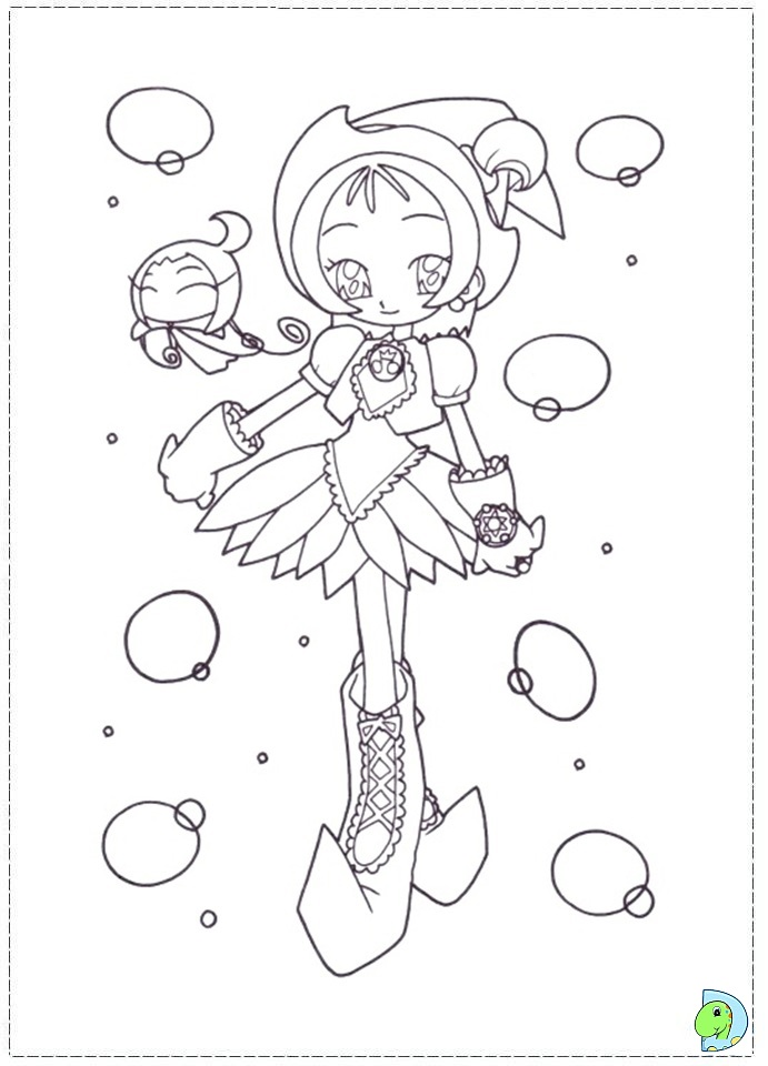 ojamajo doremi coloring pages - photo#17