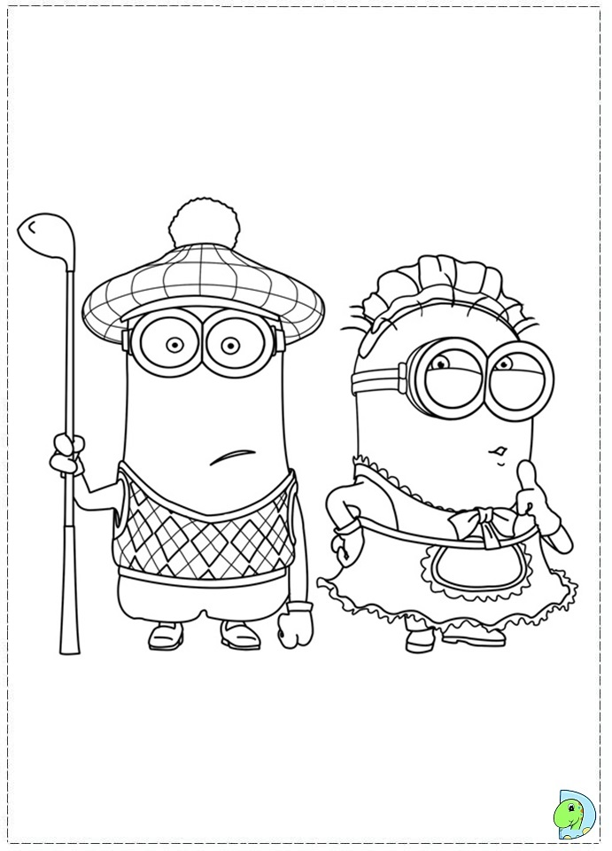 Despicable Me Coloring Pages image information