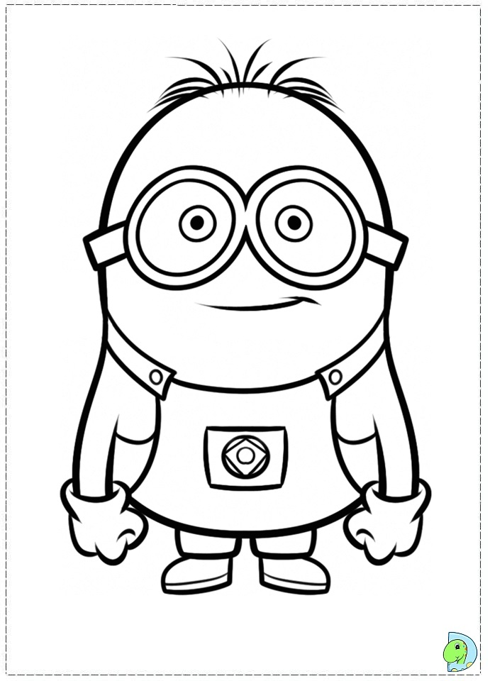 Free Coloring Pages Of Minions Minions Coloring Page