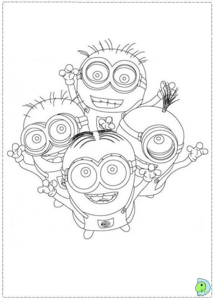 Minions minions coloring page - Minions Coloring Page Dinokids Org
