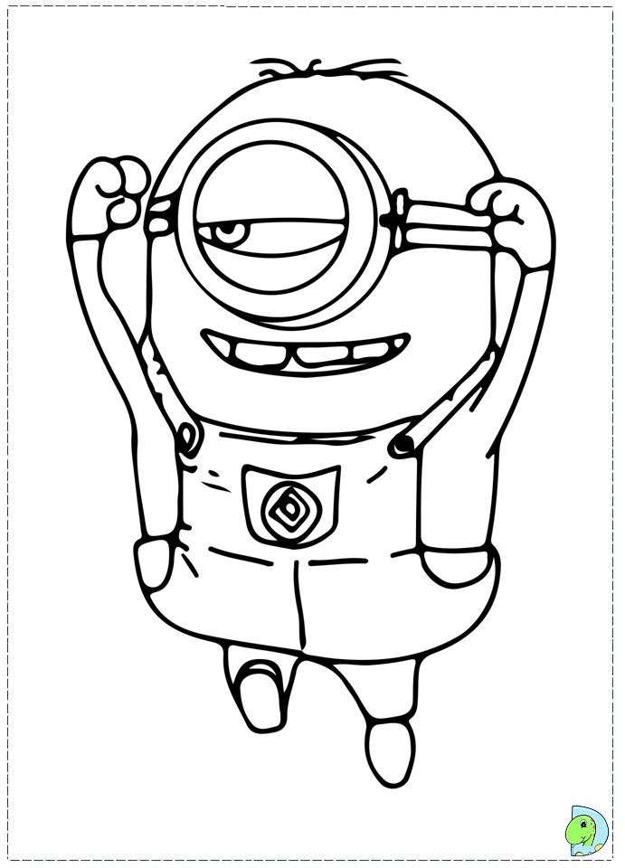 yellow minion coloring pages - photo #50