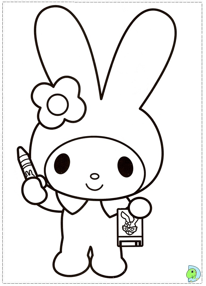 Hello Kitty Melody Coloring Pages : Free coloring pages of and my melody
