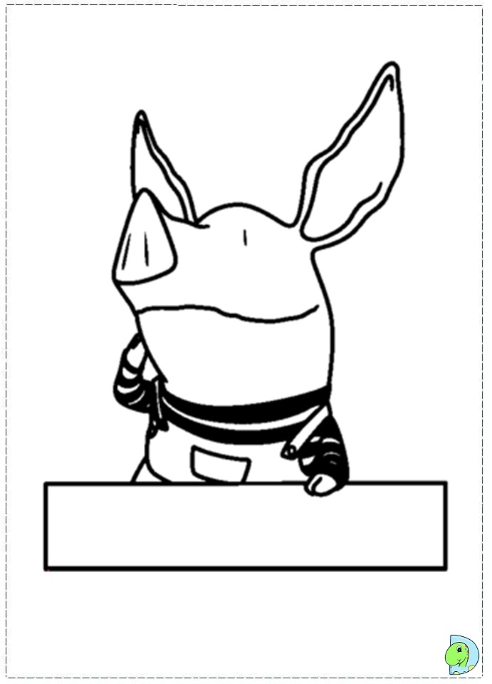 Olivia the Pig Coloring page DinoKidsorg