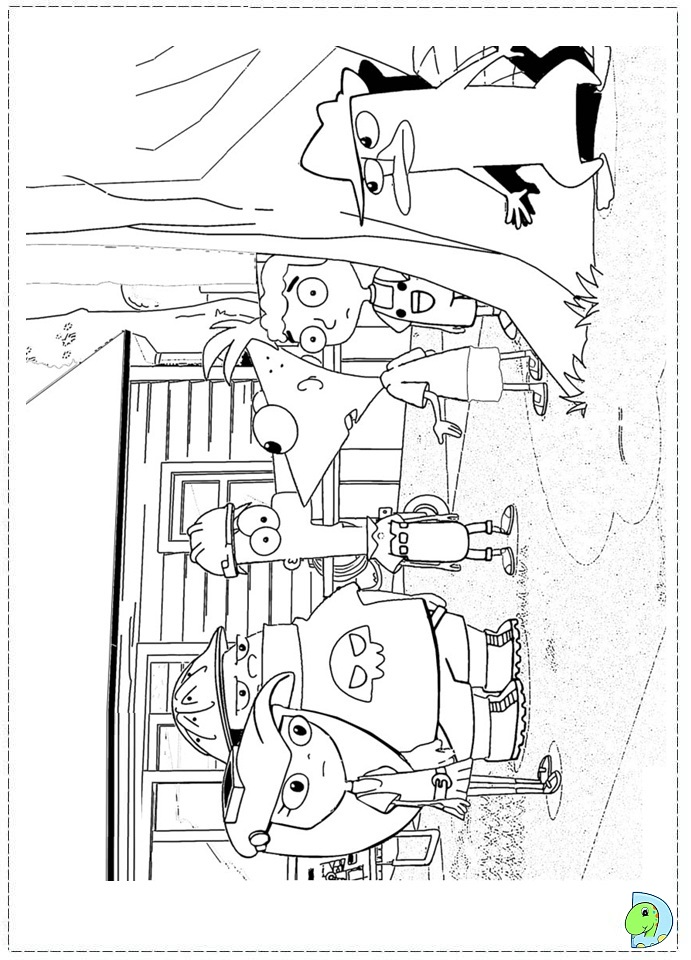Kidsnfuncom  31 coloring pages of Phineas and ferb