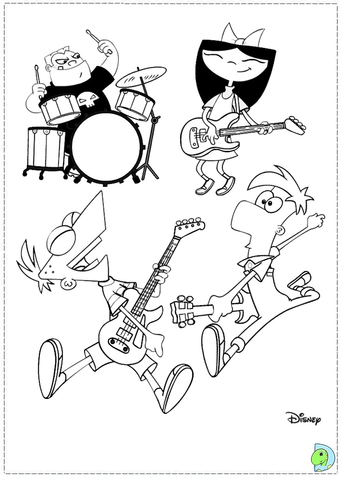 phineas and ferb vanessa coloring pages 2897826
