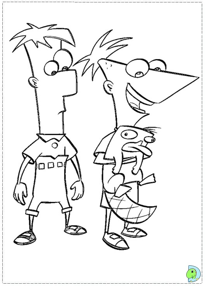 Phineas And Ferb Coloring Print Out Coloring Pages