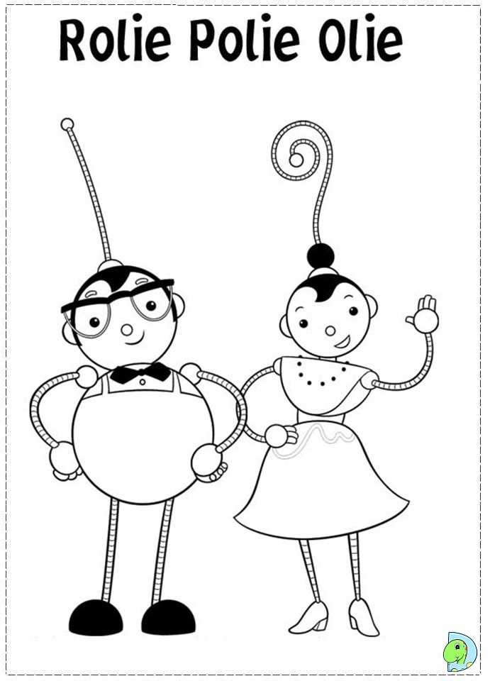 Free Rollie Pollie Ollie Coloring Pages Rolie Polie Olie Coloring Pages