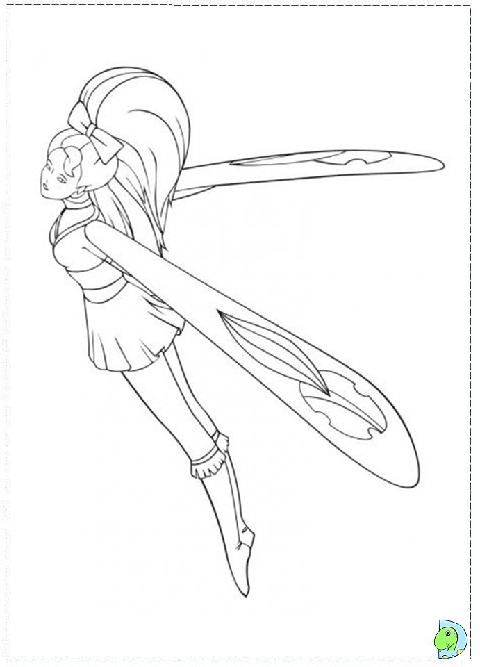 skydancers coloring pages - photo#13