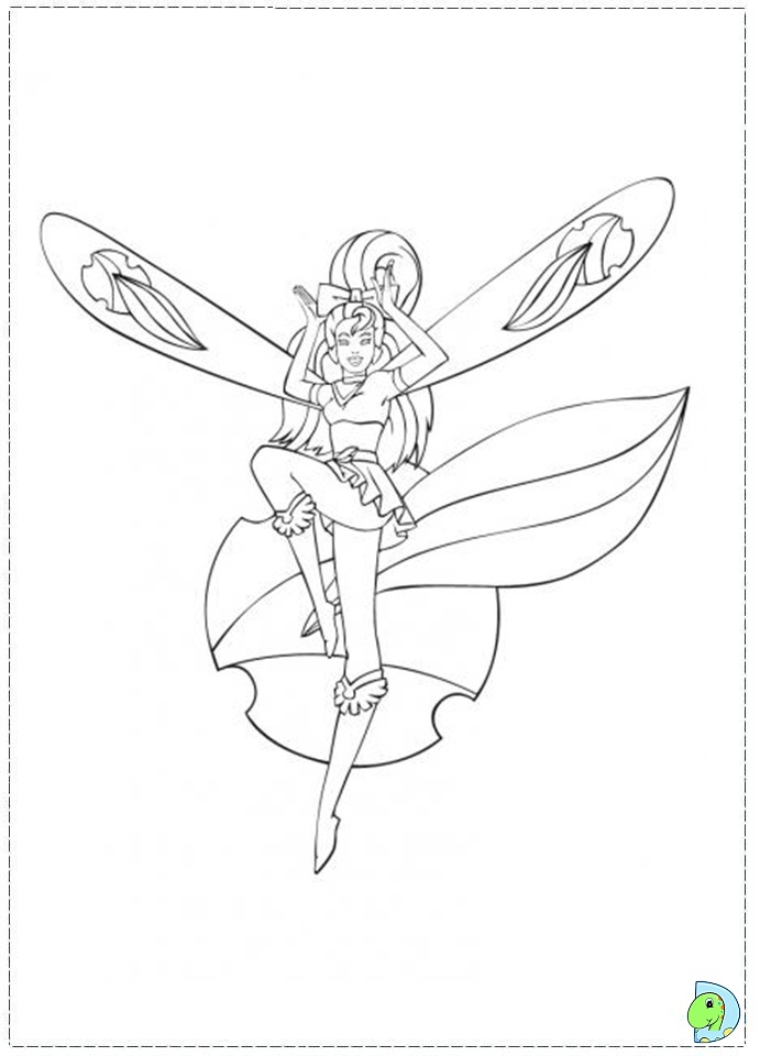 skydancers coloring pages - photo#8