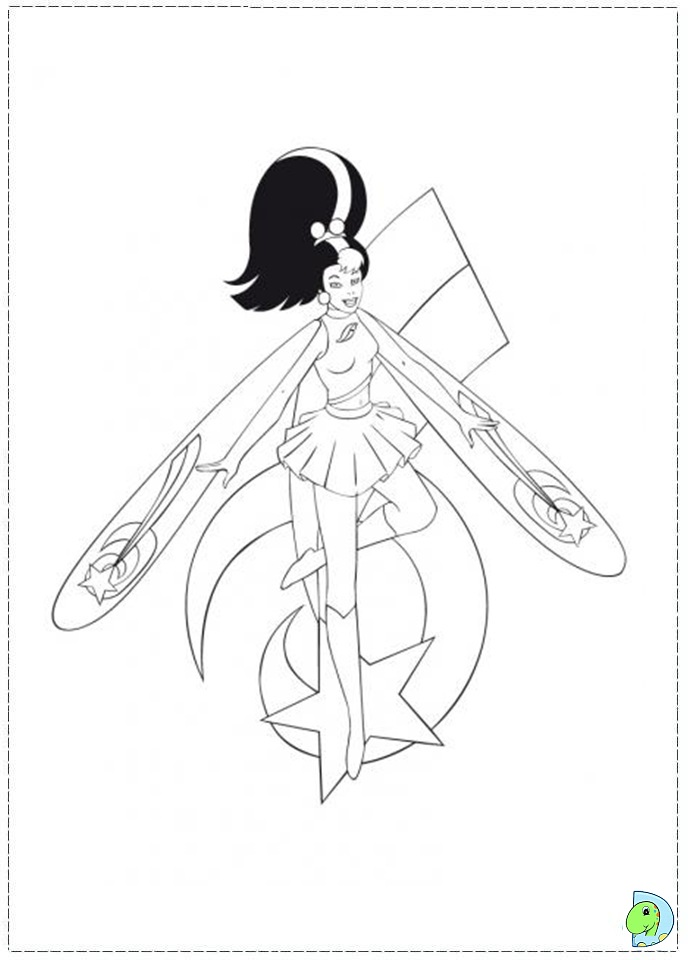 skydancers coloring pages - photo#5