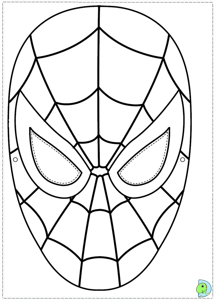Spiderman Logo Coloring Page