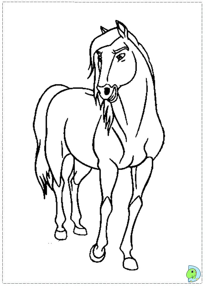 Spirit Horse Coloring Pages To Print Spirit Coloring page- ...