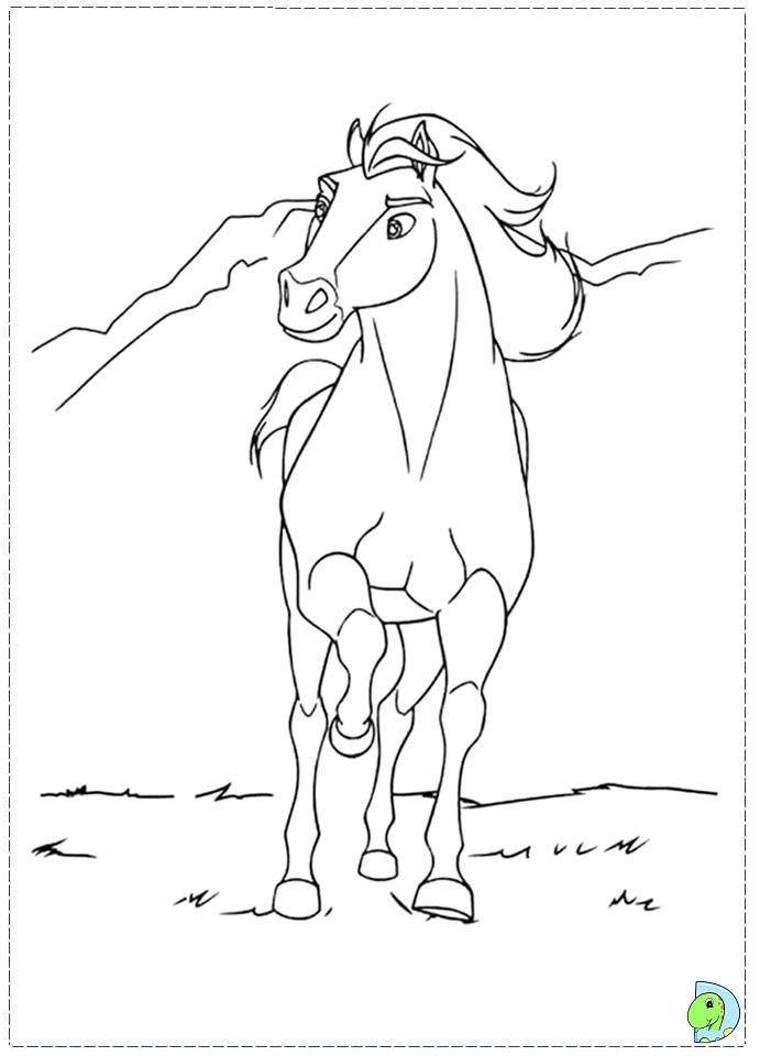 spirit coloring page dinokids