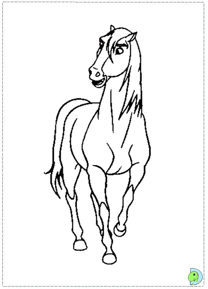 click the spirit running coloring pages to view printable version