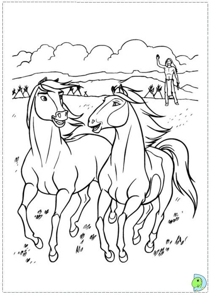 Spirit Coloring Page DinoKidsorg