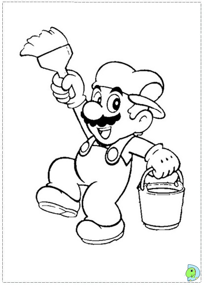 Mario bros wii coloring pages