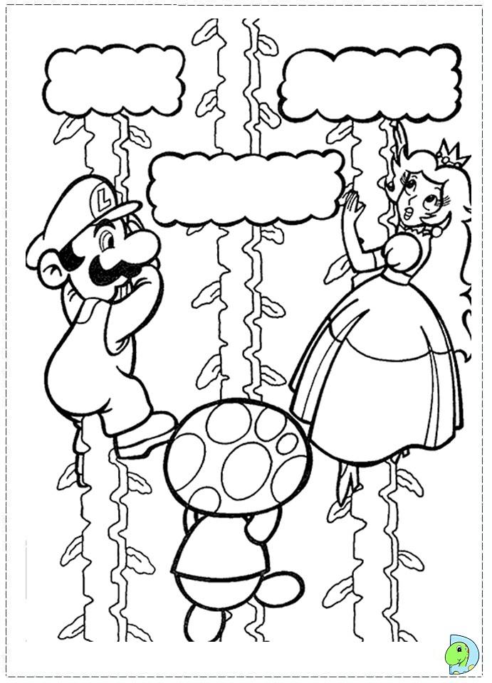 mario baseball coloring pages - photo#12