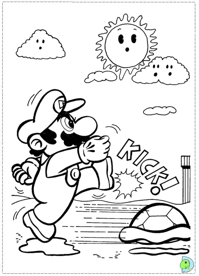 mario 64 coloring pages - photo#15
