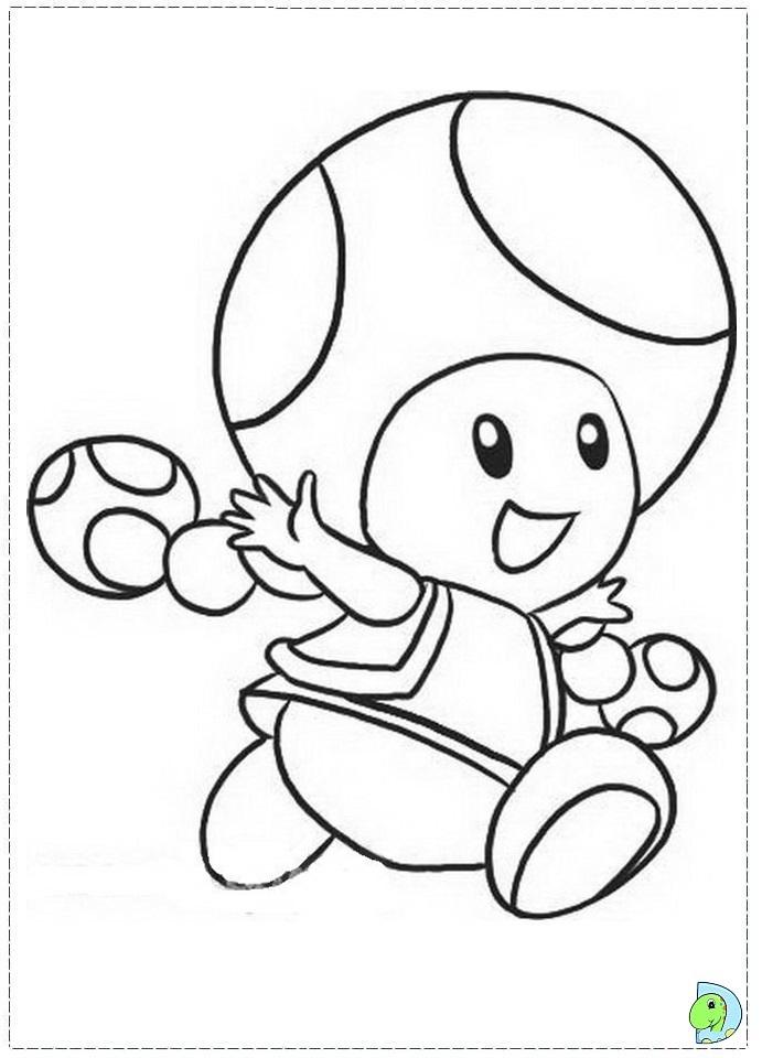 Super Mario Bros Coloring page- DinoKids.org