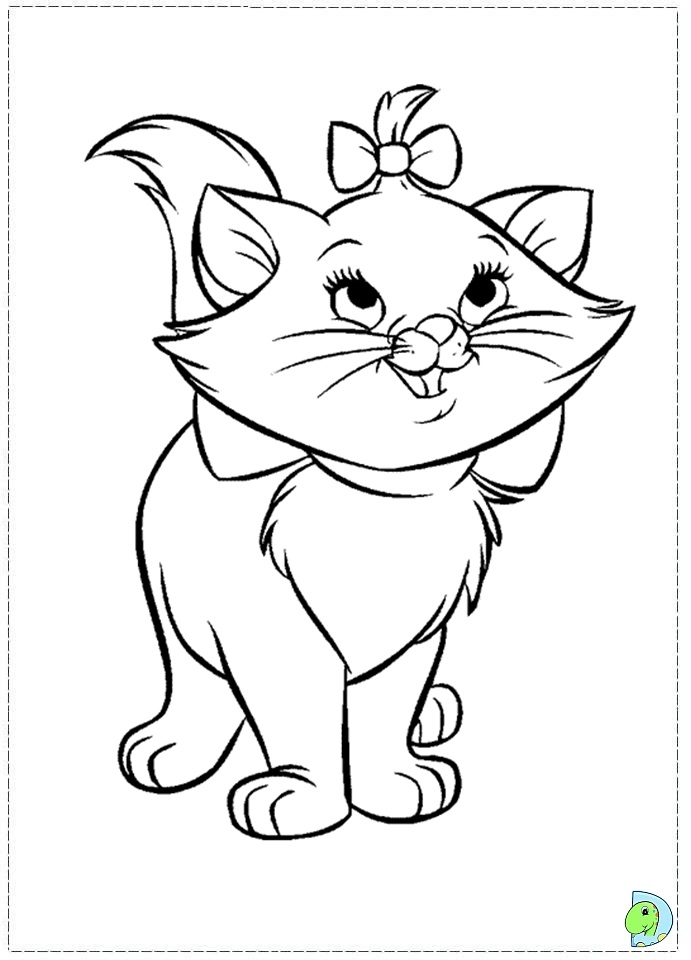 The Marie Cat Coloring Page DinoKidsorg