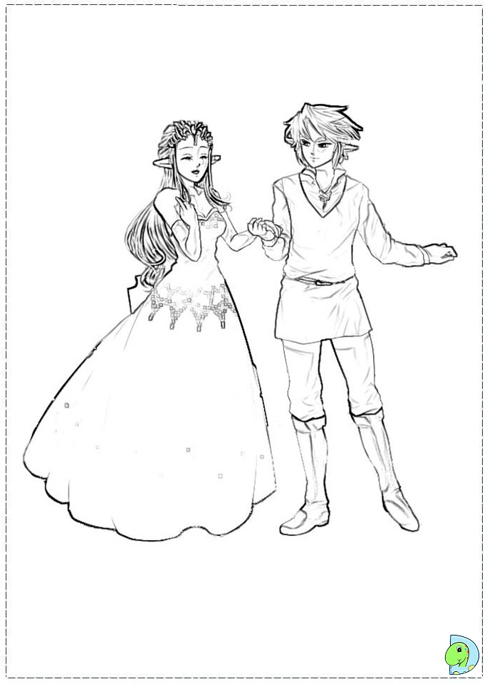 Legend of link coloring coloring pages for The legend of zelda coloring pages