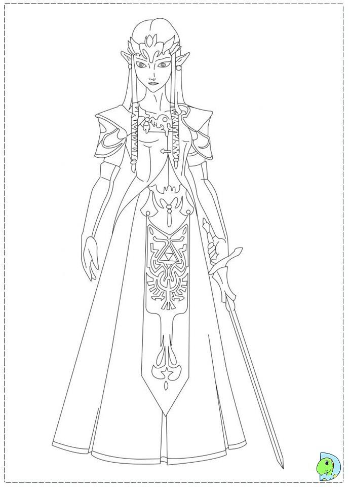 the legend of zelda coloring page dinokidsorg - Zelda Coloring Pages