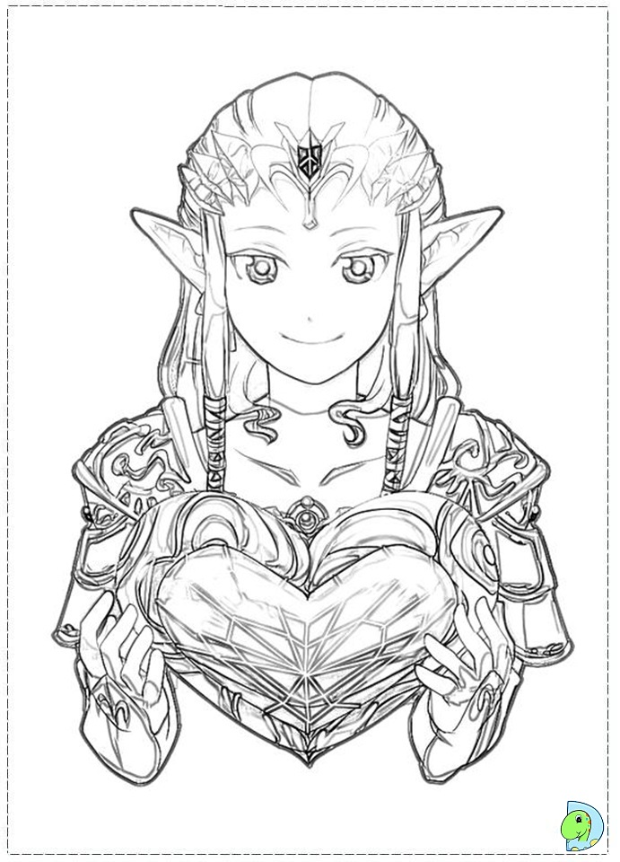 the legend of zelda coloring page dinokidsorg - Zelda Coloring Pages