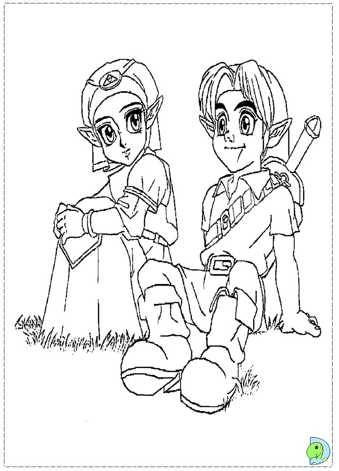 Free Do Zelda And Link Coloring Pages