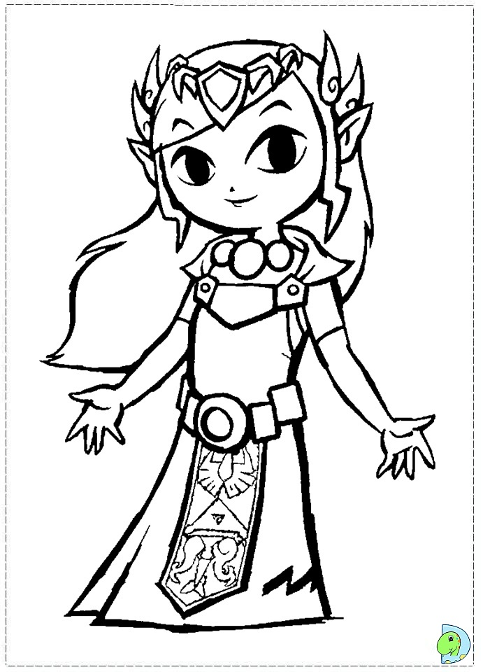Legend Of Zelda Coloring Pages Fair The Legend Of Zelda Coloring Page Dinokids Inspiration