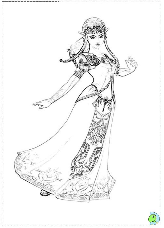 zelda coloring page. printable zelda coloring pages. princess, printable coloring