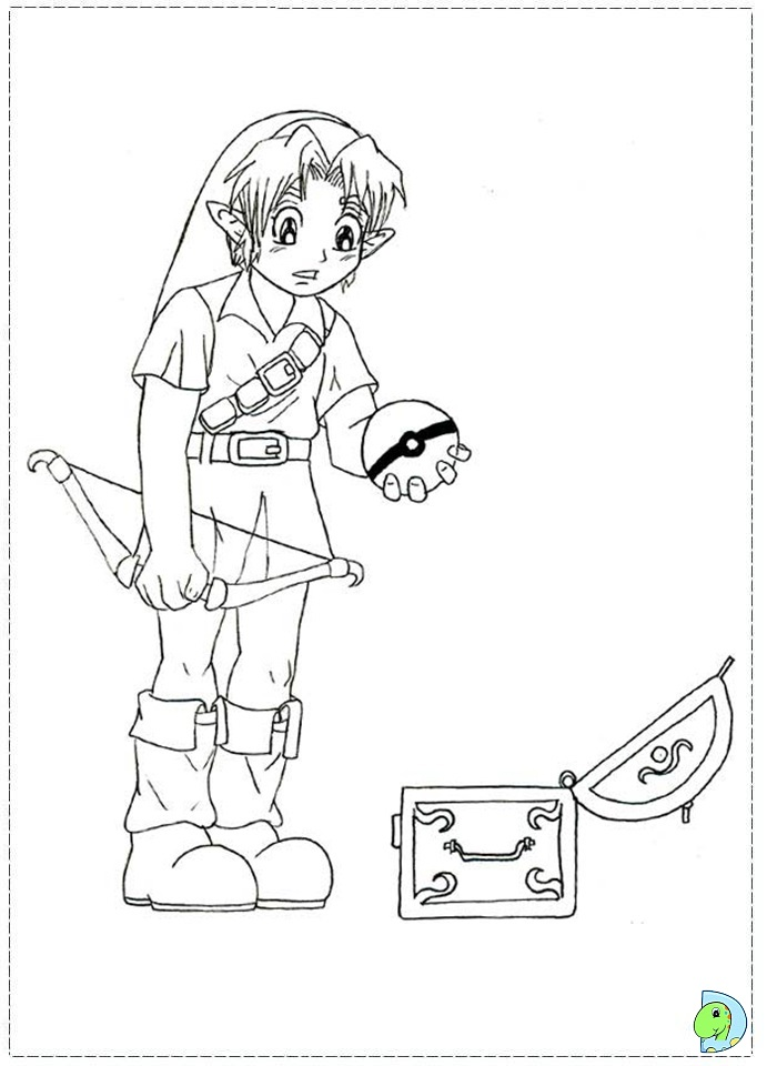 The Legend Of Zelda Coloring Page Dinokids Org Legend Of Coloring Pages