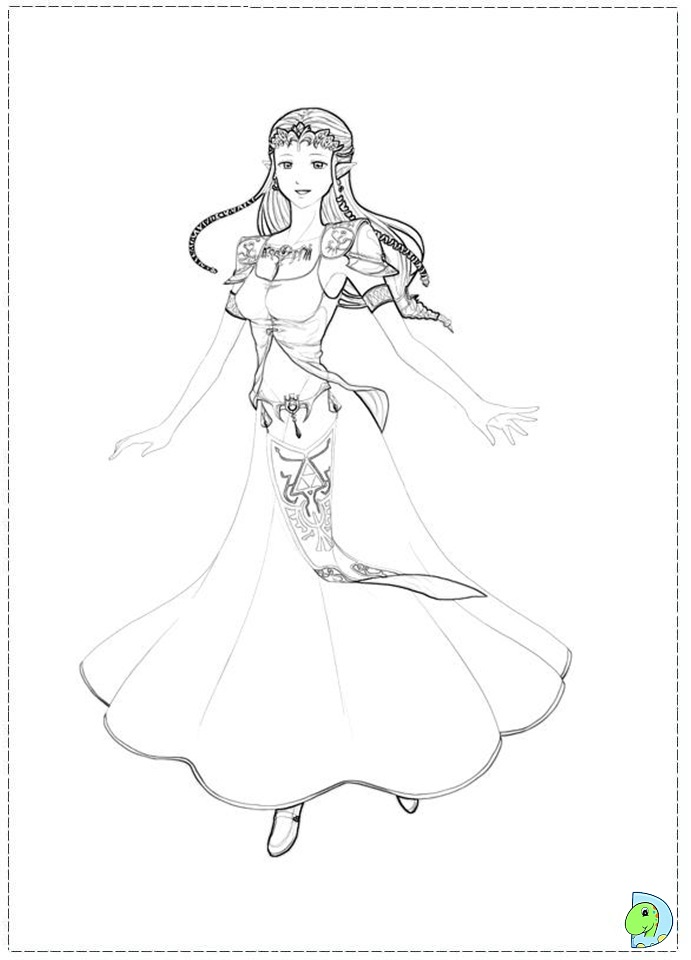 zelda skyward sword coloring pages - photo#15