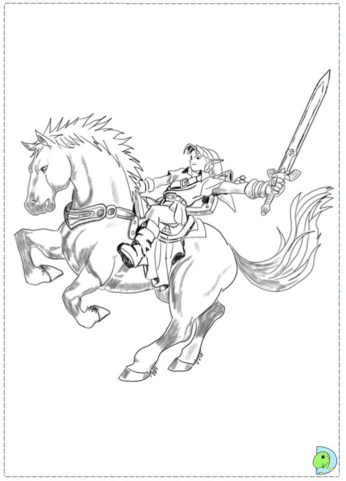 Free Coloring Pages Of Legend Of Zelda Windwaker