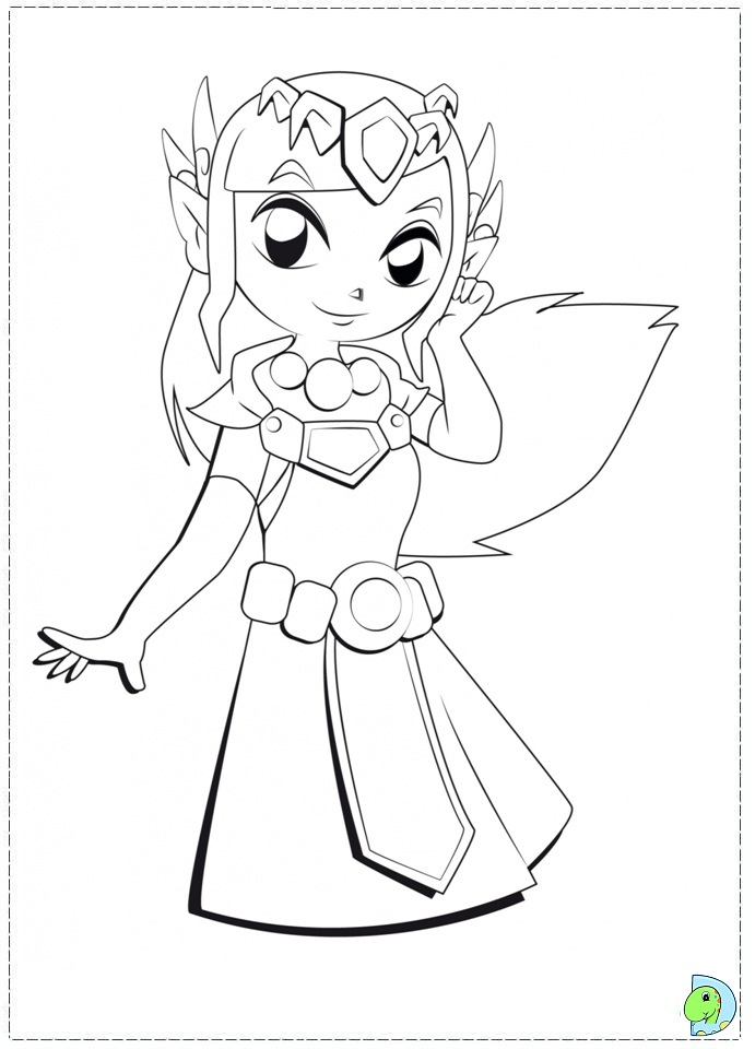 the legend of zelda coloring page dinokidsorg. another princess, printable coloring
