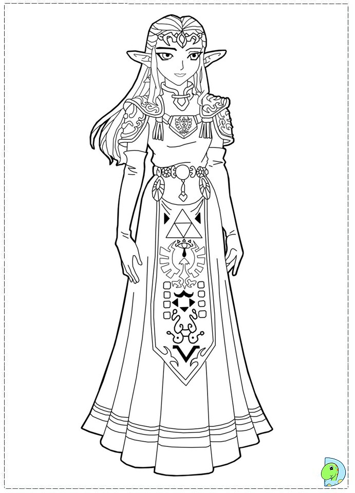The Legend of Zelda Coloring page- DinoKids.org