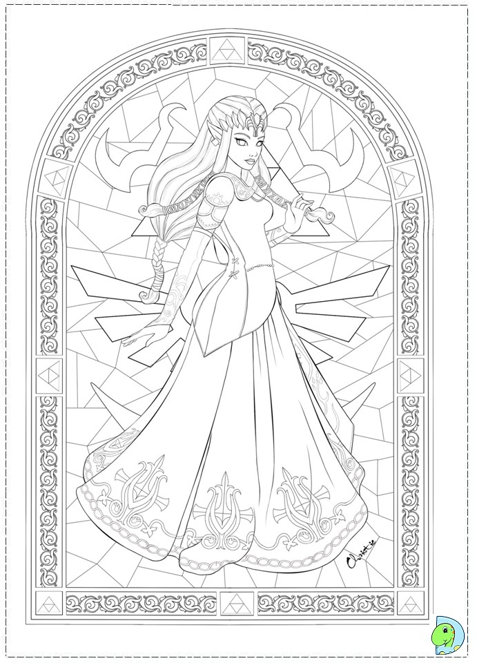 Free Coloring Pages Of Zelda